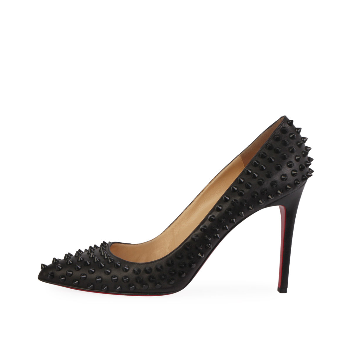 a11363c59461 CHRISTIAN LOUBOUTIN Leather Pigalle Spikes 100 Pumps Black S  41.5 ...