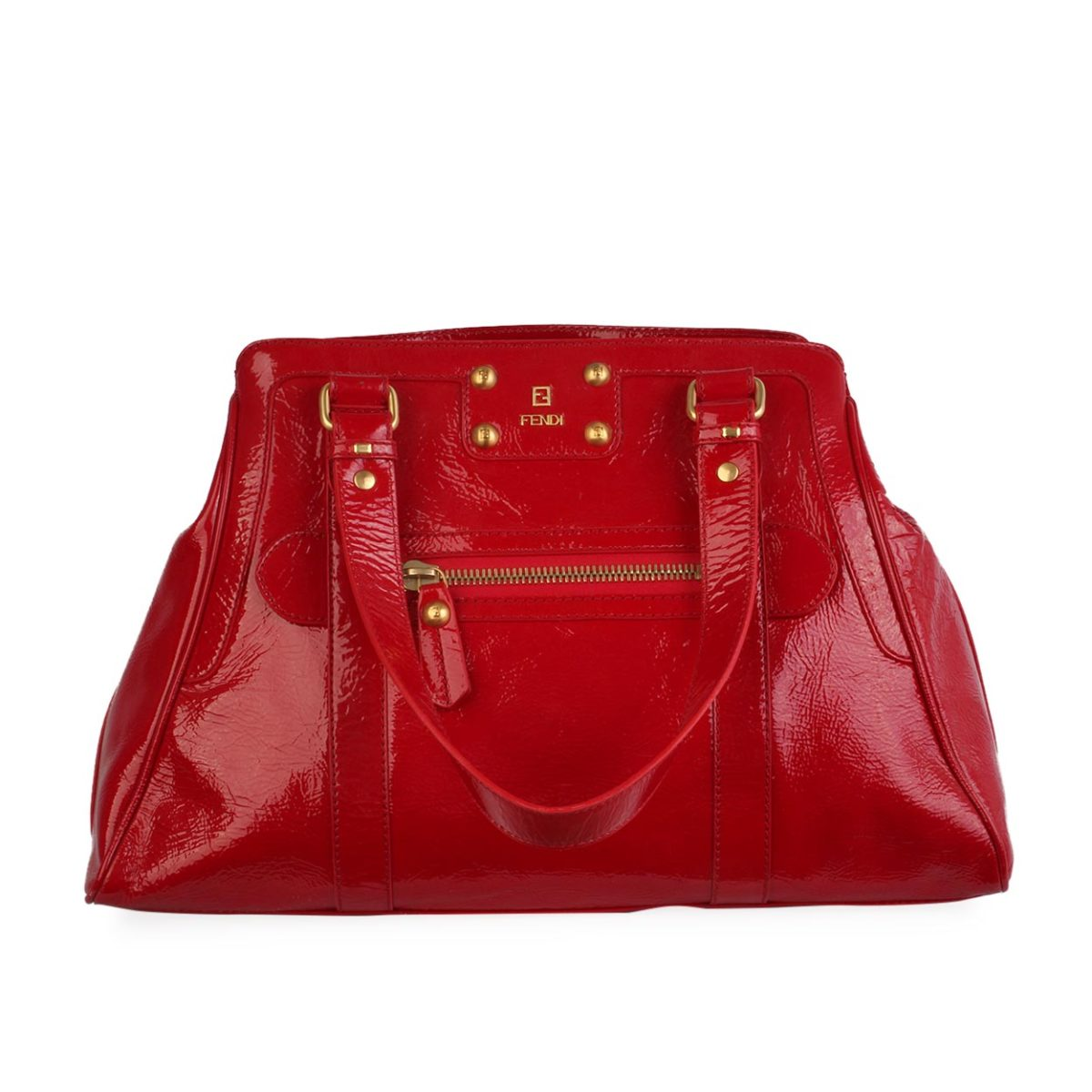 487830545c05 FENDI Patent Bag Du Jour Red - NEW