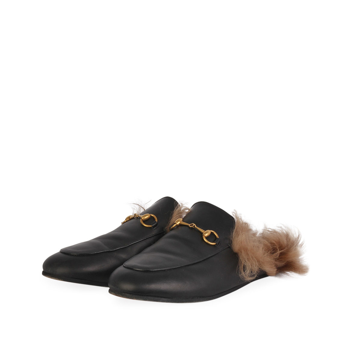 5a14c127e GUCCI Princetown Leather Slippers Black - S  40 (6.5)