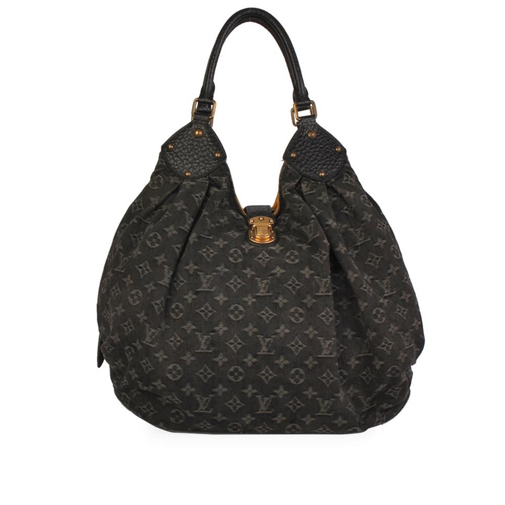 Louis Vuitton Denim Bag >> Louis Vuitton Denim Monogram Xl Bag Black Luxity