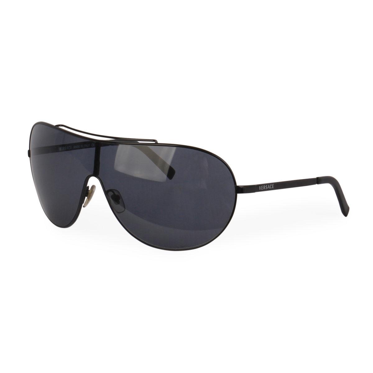 ce104f5f2a0 VERSACE Aviator Sunglasses 2056 Black
