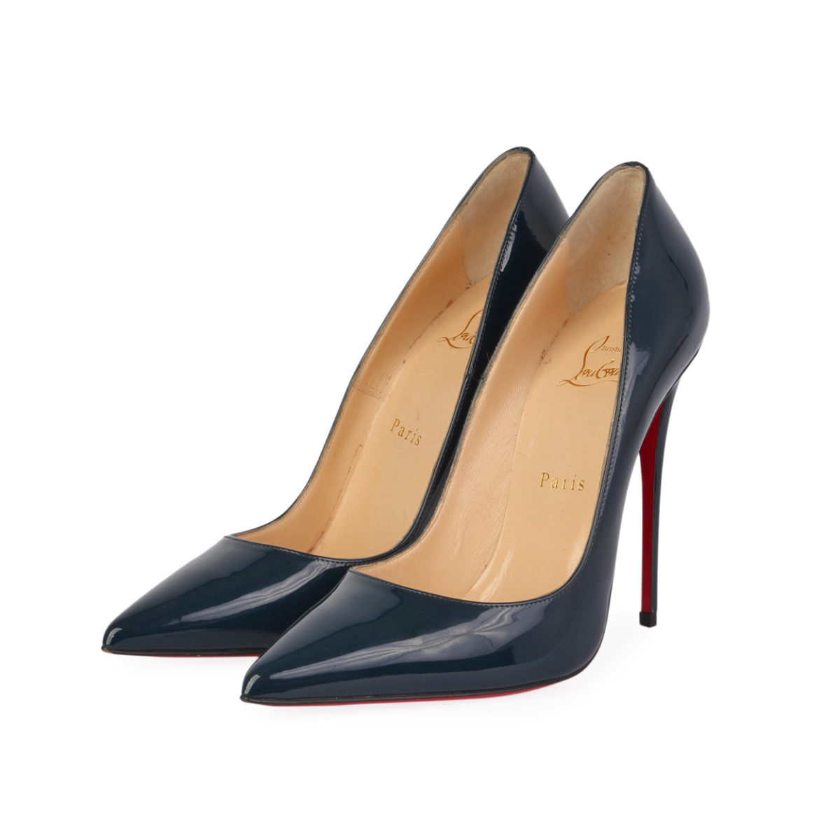 best sneakers c5b00 c8bf4 CHRISTIAN LOUBOUTIN Patent Leather So Kate Pumps Navy - S: 38.5 (5.5)