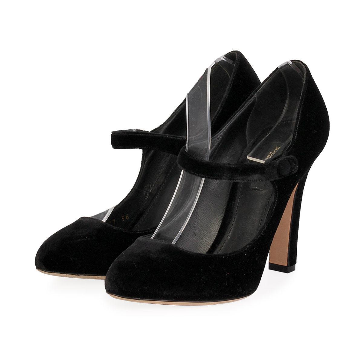 bb3af4f4f8 DOLCE & GABBANA Velvet Pumps Black - S: 38 (5)   Luxity