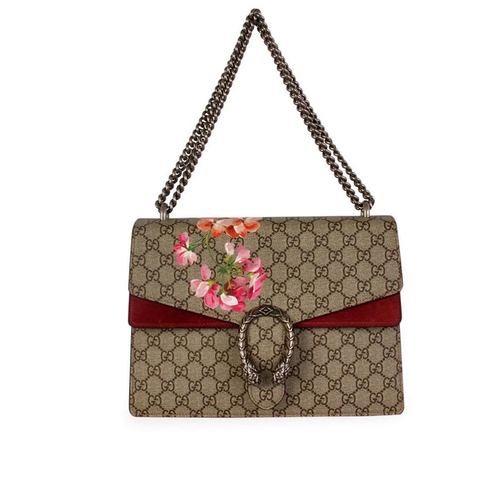 f20ccd528650 GUCCI GG Blooms Medium Dionysus Shoulder Bag | Luxity