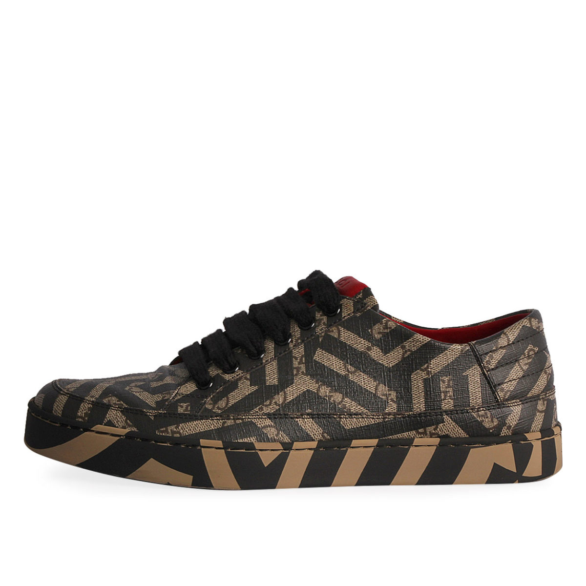 3d011bacb06 GUCCI GG Caleido Men s Sneakers Black Beige - S  41 (7.5)