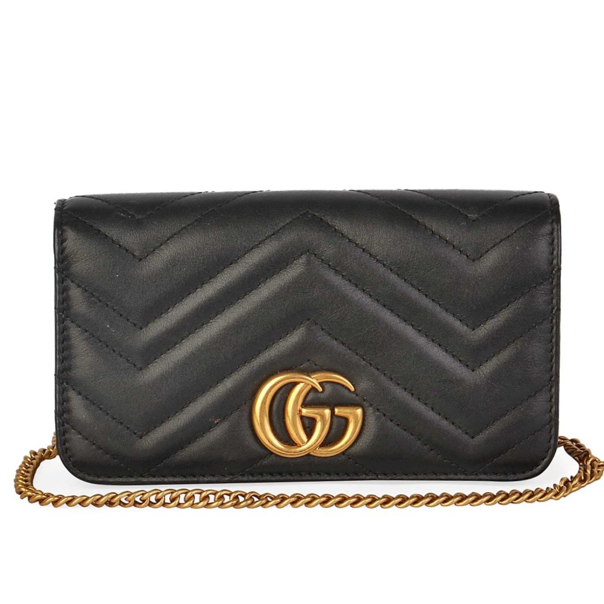 f5e984f9da8b GUCCI GG Marmont Matelassé Mini Crossbody Bag Black | Luxity