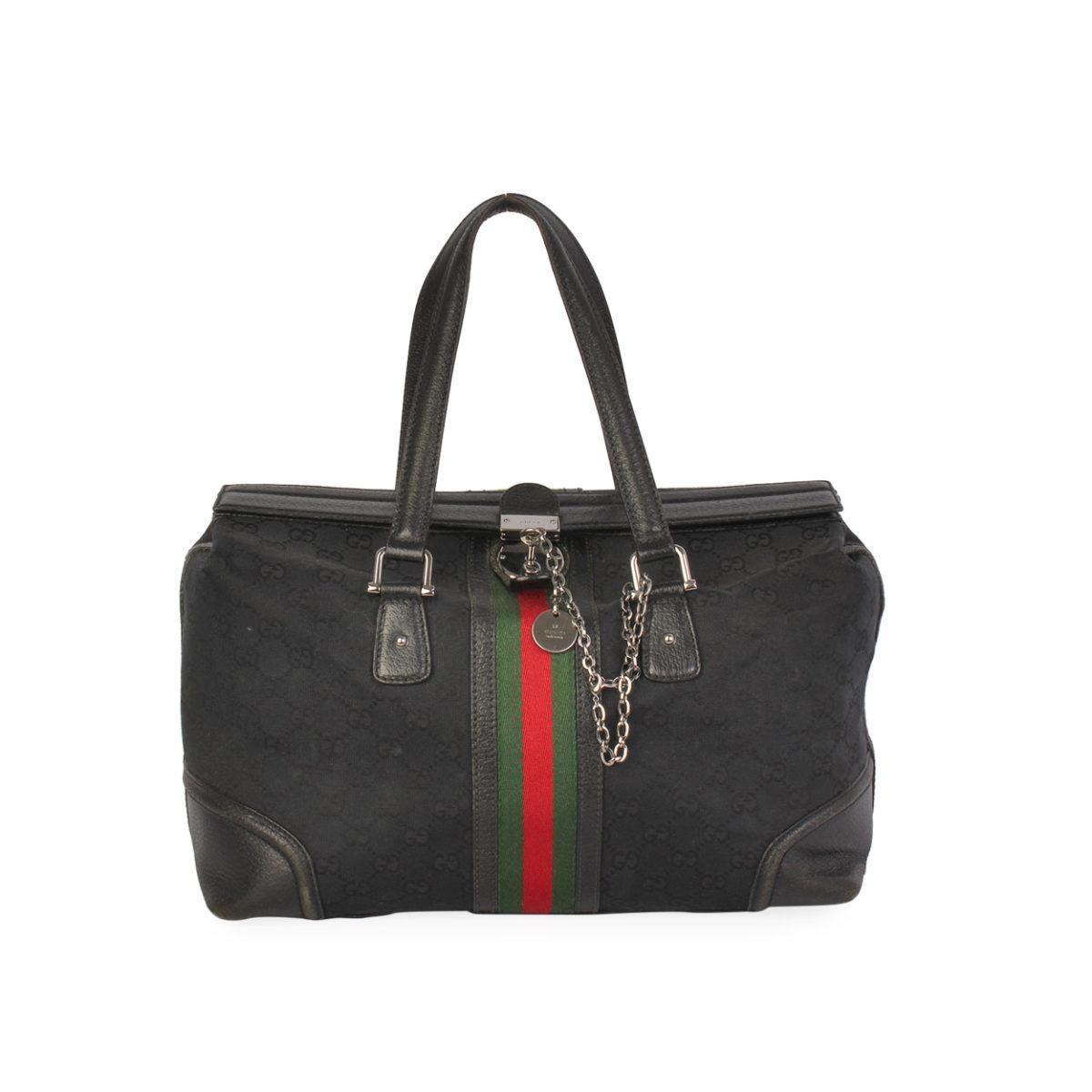 cf21745964e GUCCI GG Vintage Doctor Bag Black