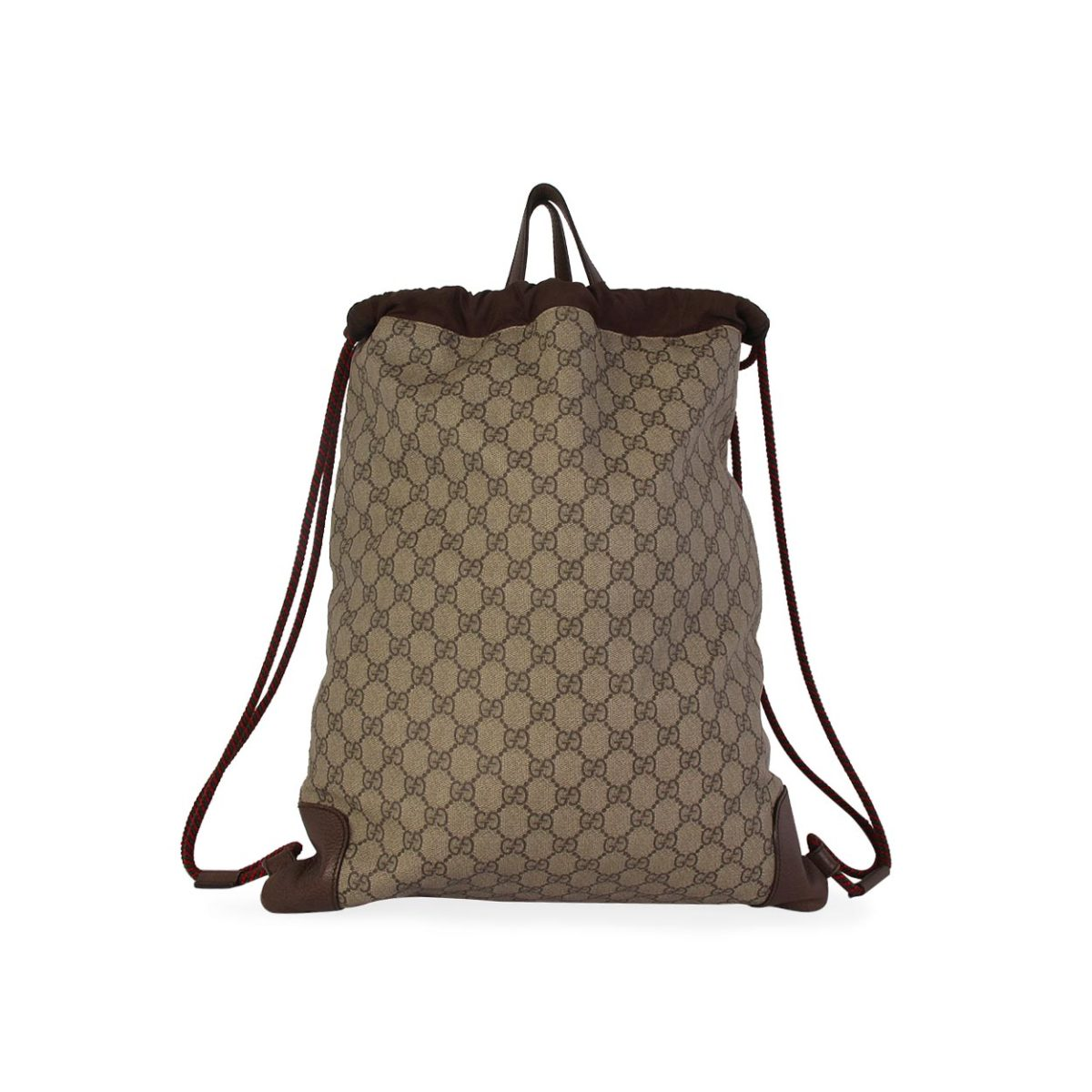 1857e12f36f4 GUCCI Soft GG Supreme Courrier Drawstring Backpack