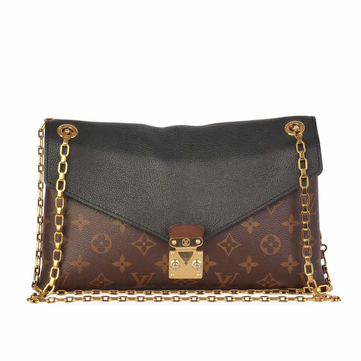 d459de3896c6 LOUIS VUITTON Monogram Pallas Chain Bag Black