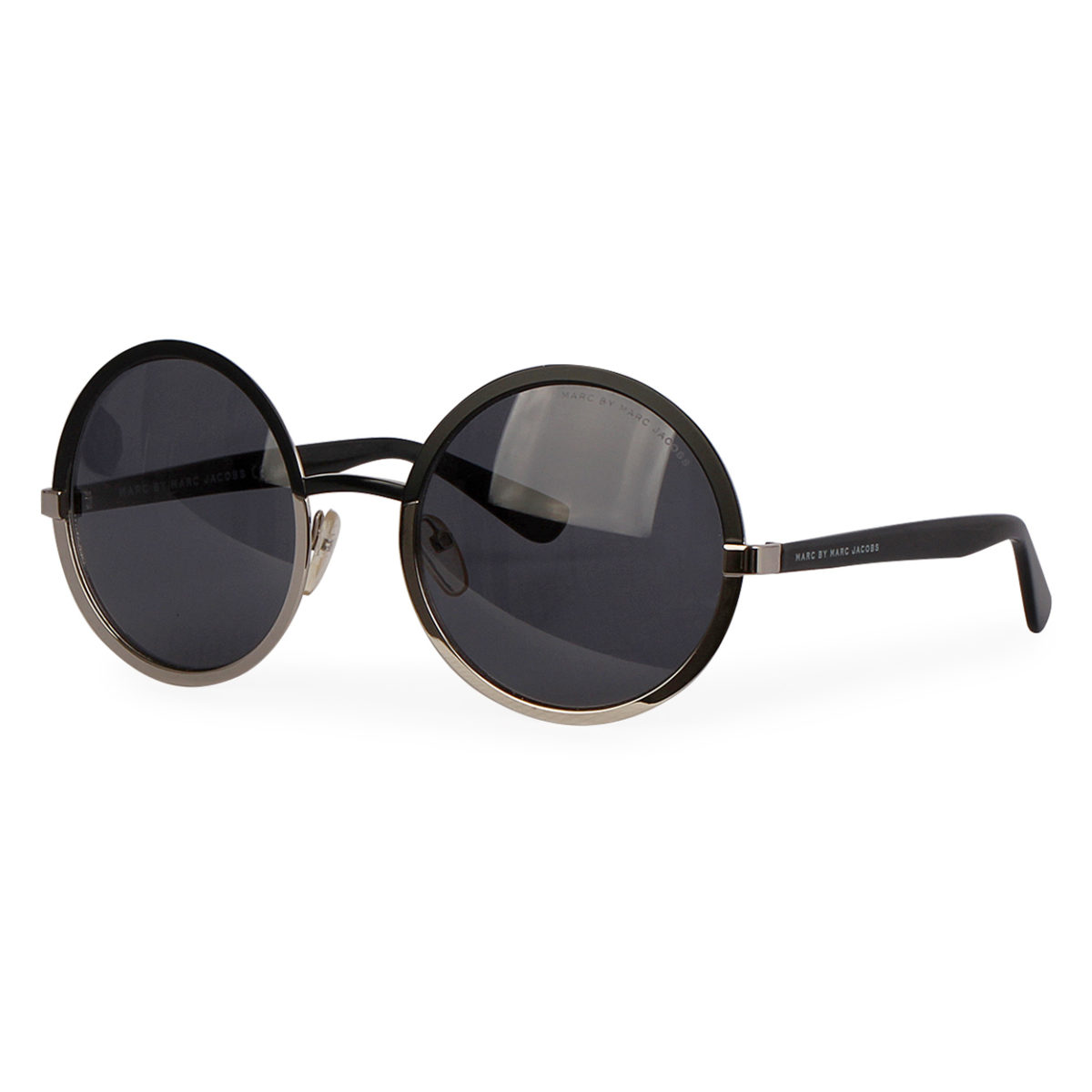 a8cf50010947 MARC JACOBS Round Sunglasses MMJ 437/S Black | Luxity