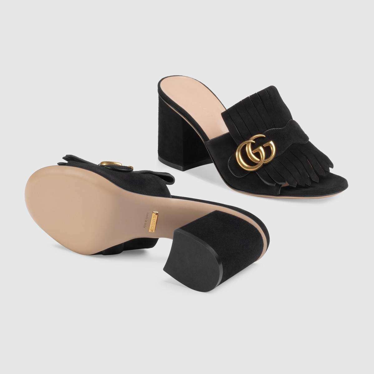 Gucci Mid Heel Slide