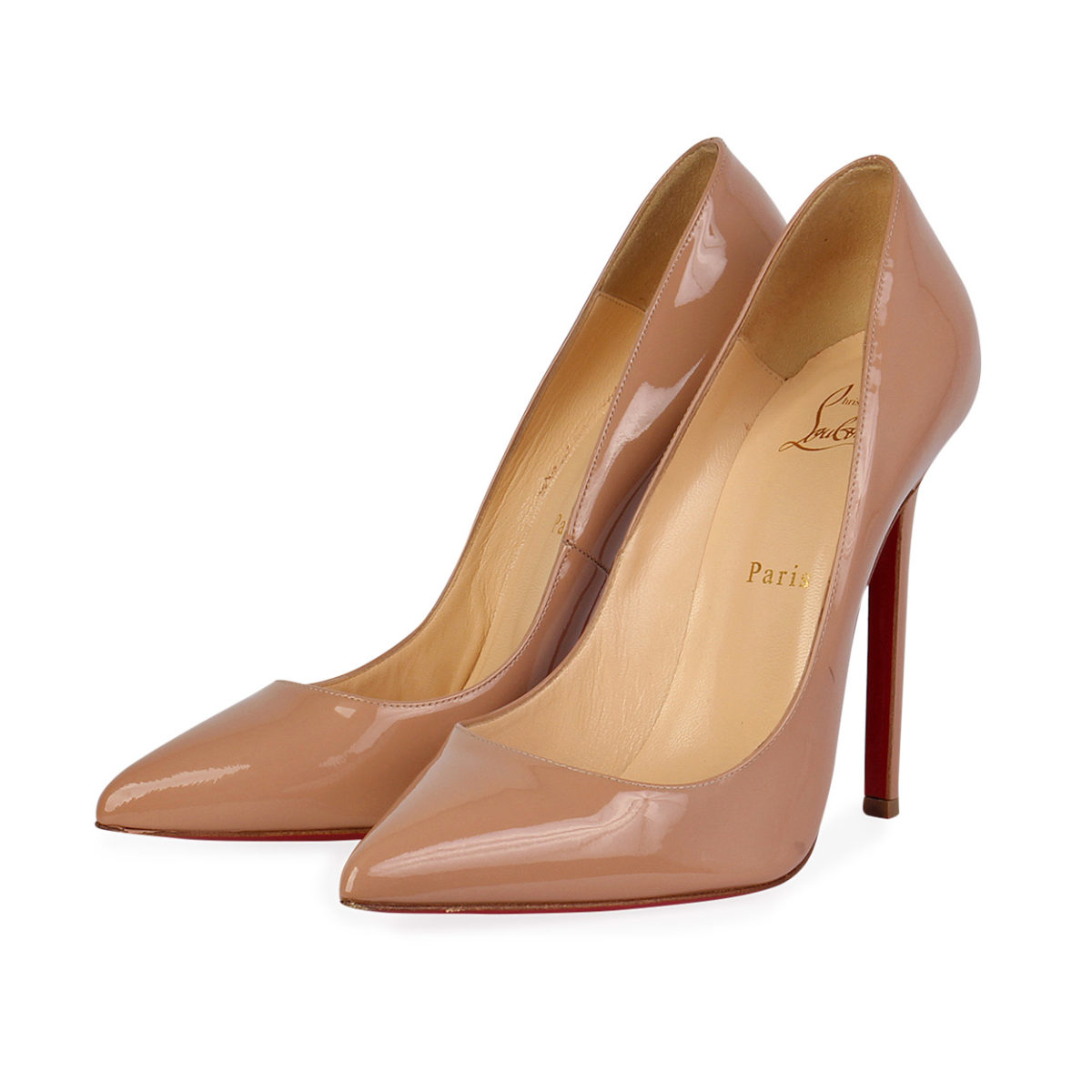 e24509f92a2 CHRISTIAN LOUBOUTIN Patent Pigalle Pumps Nude - S  40.5 (7)
