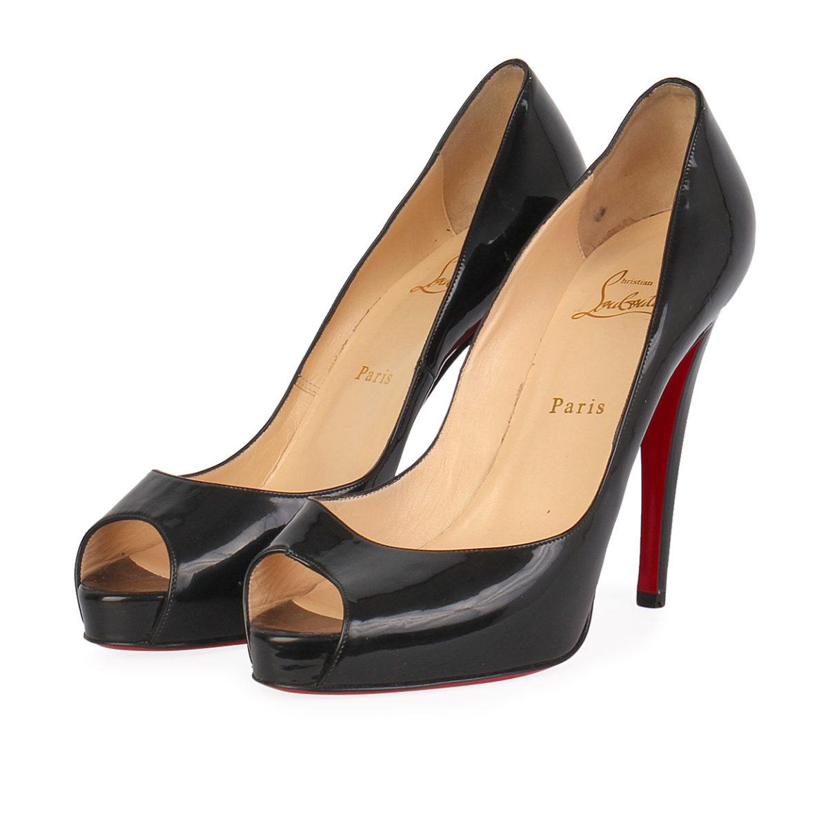 finest selection 4d740 bb109 CHRISTIAN LOUBOUTIN Patent Leather Very Prive Pumps Black - S: 39.5 (6.5)