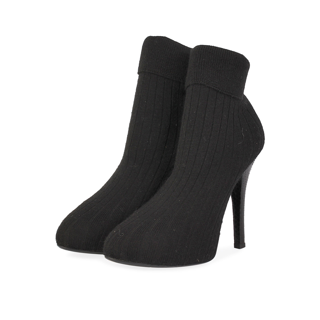 9f8f3fae1f DOLCE   GABBANA Sock Knee High Boots Black - S  39.5 (6.5)