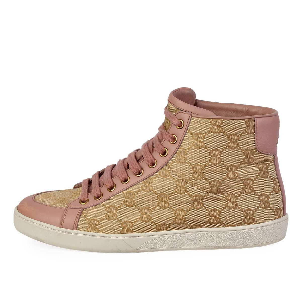 a3a4974f4aa GUCCI GG Brooklyn High-Top Sneakers Pink - S  38 (5)