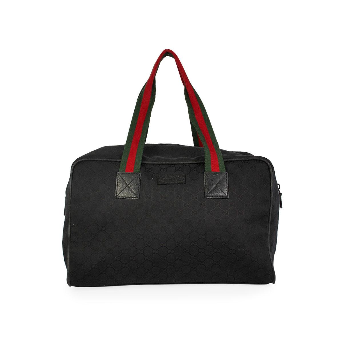be7e466e410e GUCCI GG Large Duffle Bag Black | Luxity