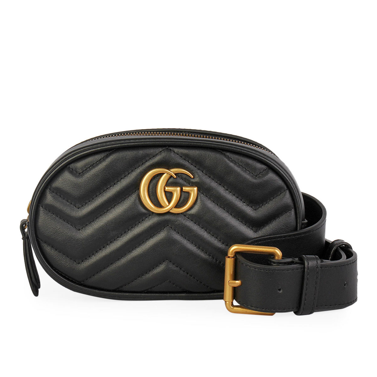 9f3750972 GUCCI GG Marmont Matelassé Belt Bag Black | Luxity