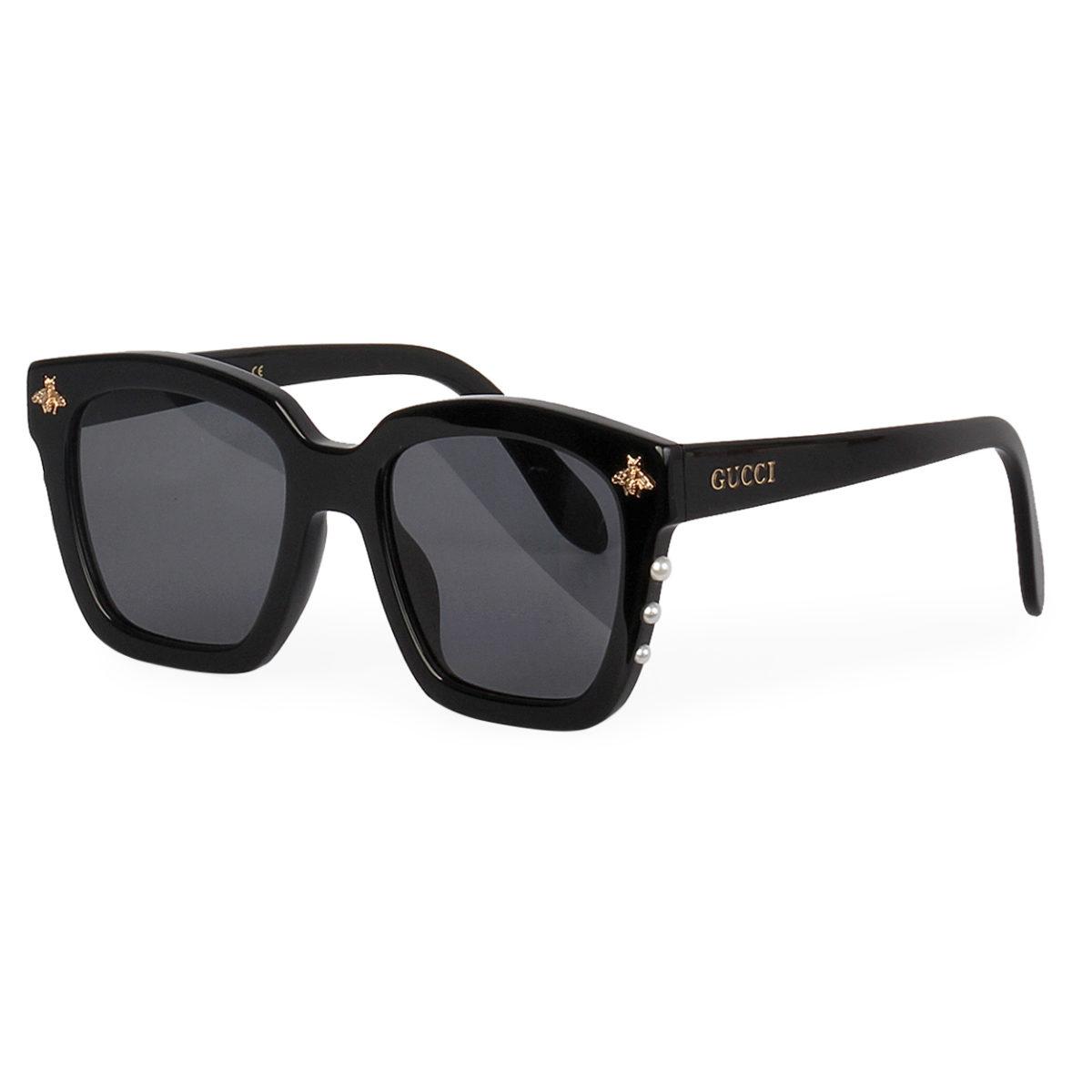 GUCCI Pearl Bee Sunglasses GG 0168 Black