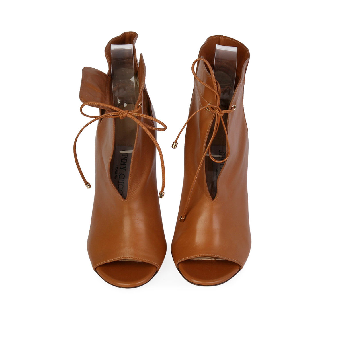 729f38b1e7a JIMMY CHOO Soft Leather Memphis 100 Ankle Booties Canyon - S  35 ...