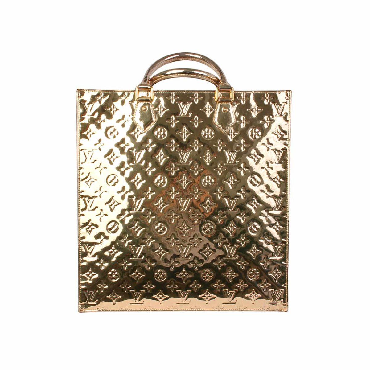 LOUIS VUITTON Monogram Miroir Sac Plat Dore Gold - Limited Edition ... 5a5fbe26443e