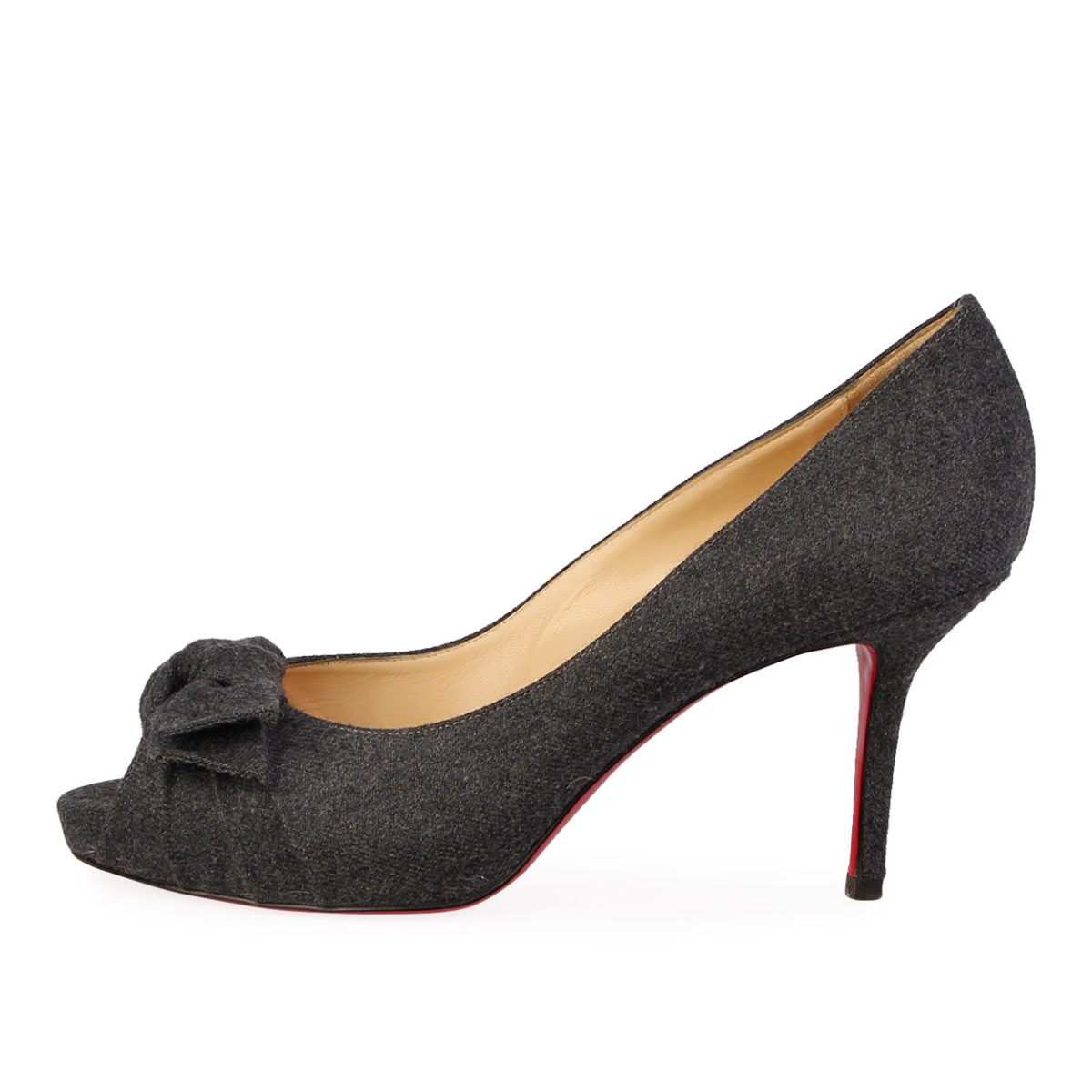 3eed572e1729 CHRISTIAN LOUBOUTIN Flannel Madame Butterfly Pumps Dark Grey - S  40 ...