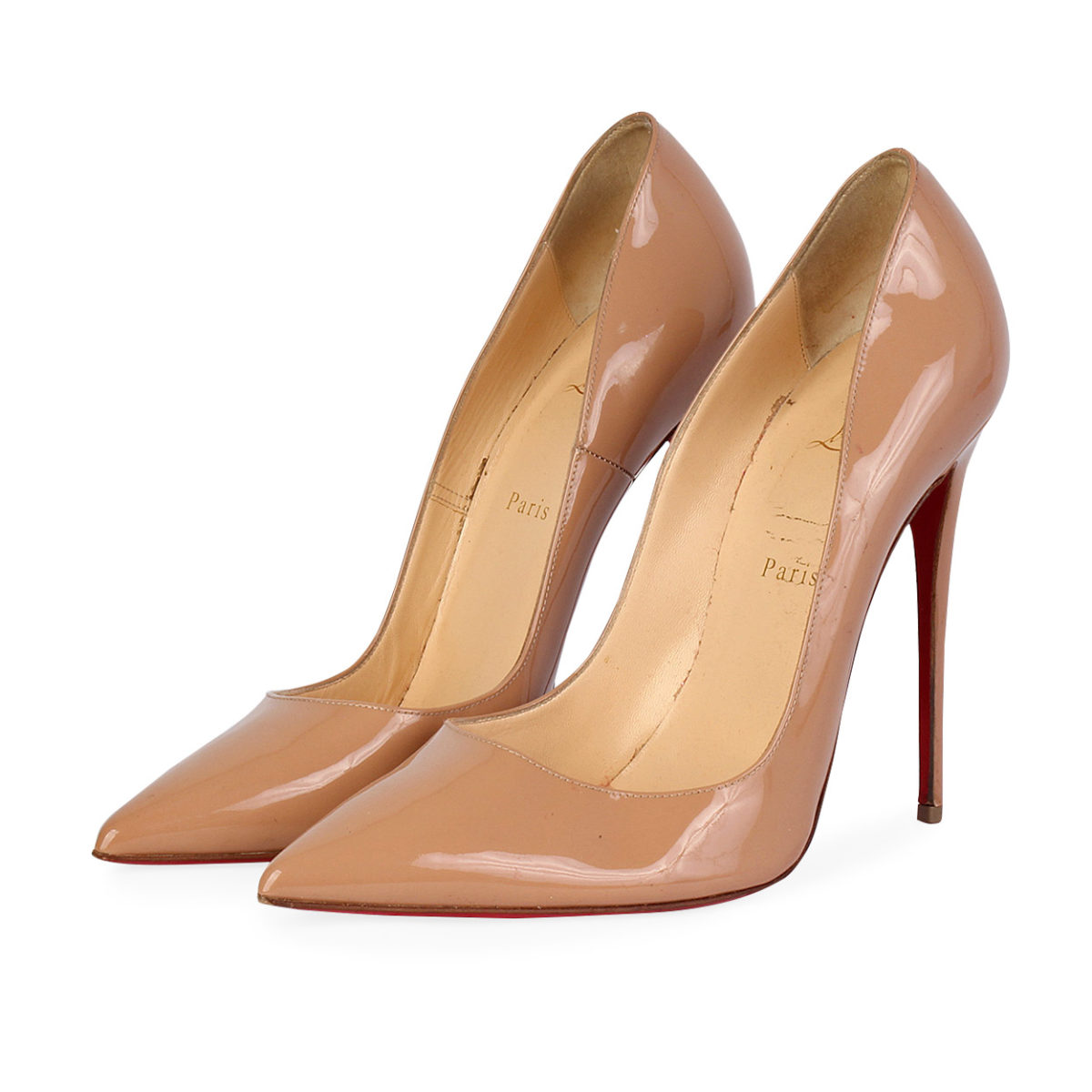 94037b5ac59 CHRISTIAN LOUBOUTIN Patent Leather So Kate Pumps Nude - S: 41 (7)
