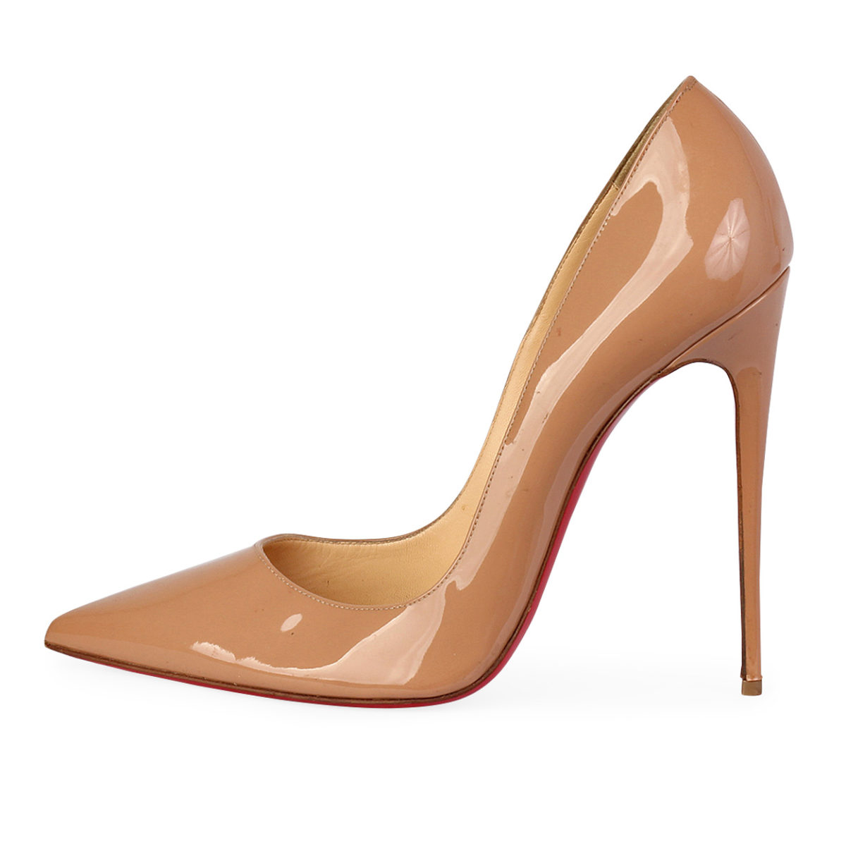5574ce66cb8 CHRISTIAN LOUBOUTIN Patent Leather So Kate Pumps Nude - S  41 (7 ...