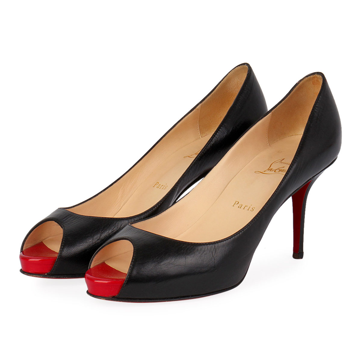 best cheap 23ed8 b678b CHRISTIAN LOUBOUTIN Leather Very Prive Pumps Black - S: 40 (6.5)
