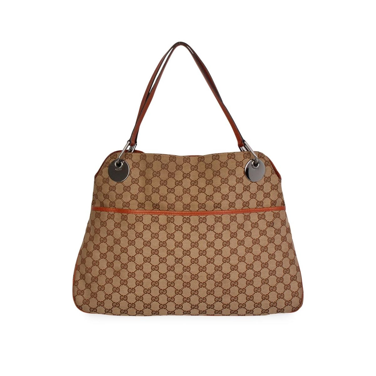 47d98116eef GUCCI GG Eclipse Large Tote Brown