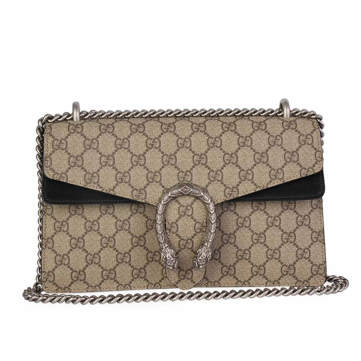 58fc4b43daae GUCCI GG Supreme Dionysus Small Shoulder Bag Beige | Luxity