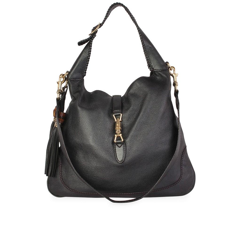 6ead49197fd GUCCI Pebbled Leather New Jackie Medium Shoulder Bag