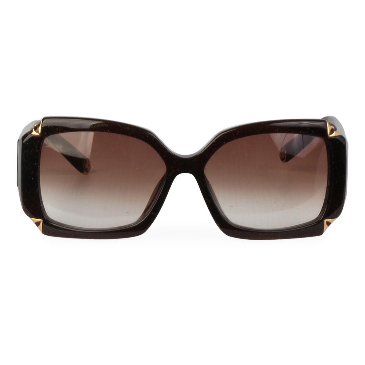 dc5ccdd704d LOUIS VUITTON Hortensia Glitter Sunglasses Z0366E Brown