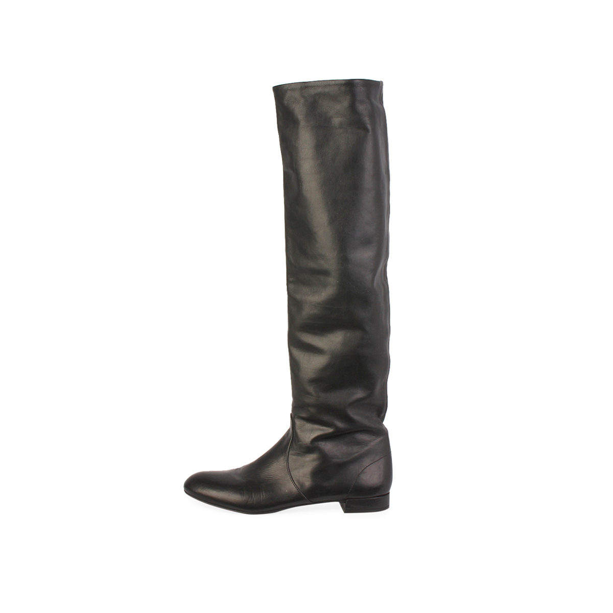 a7cb72355 PRADA Leather Knee High Boots Black - S: 36.5 (3.5) | Luxity