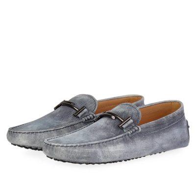 32167d39695 TOD S Men s Double T City Gommino Loafers Denim – S  42.5 (8.5)