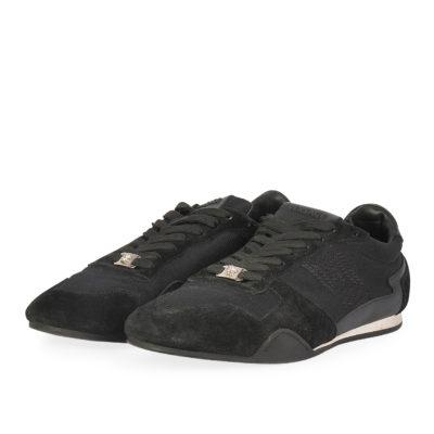 8b2fcca05c5 VERSACE Men s Suede   Mesh Sneakers Black – S  44 (10)