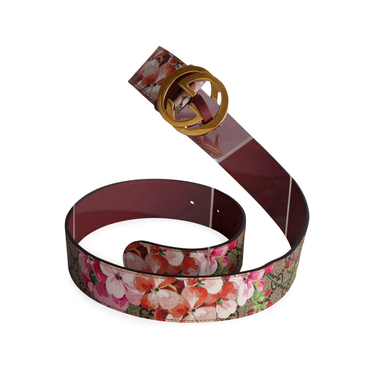 b563011c8cb GUCCI GG Supreme Blooms Belt Antique Rose - S  85 (34)