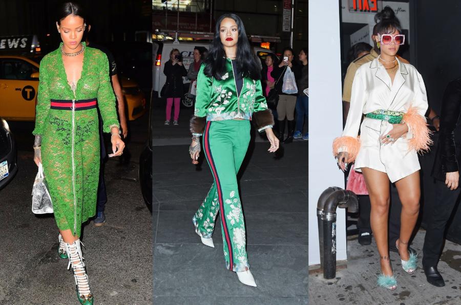 Rihanna Wearing Gucci Streetstyle