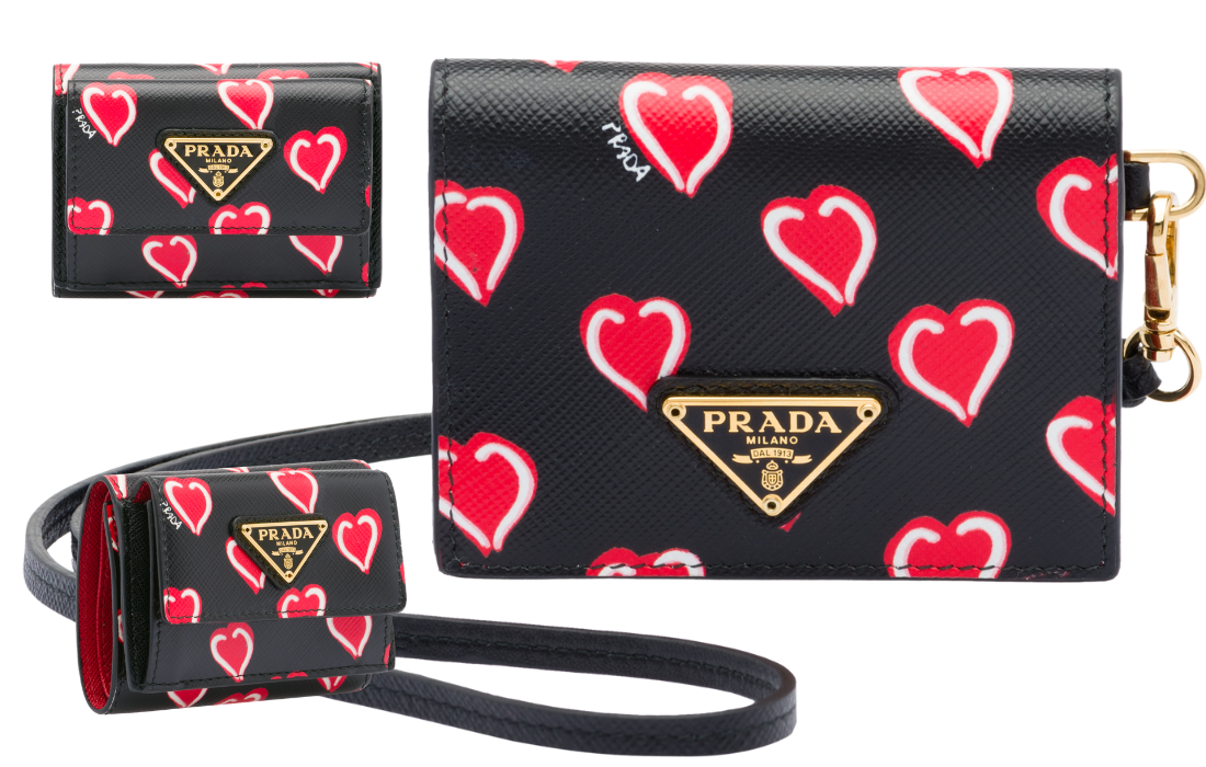 the spacing on the prada logo