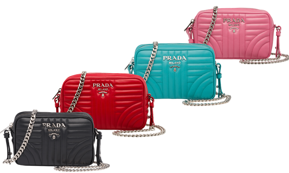 Hardware on Prada Handbag