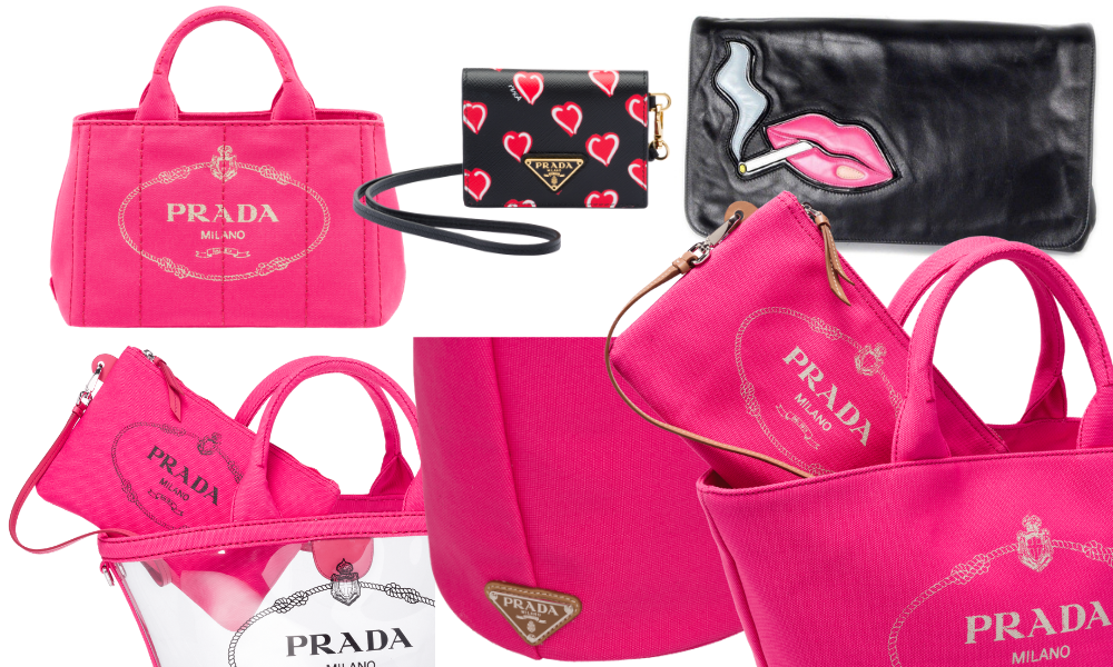 Zipper on prada handbag