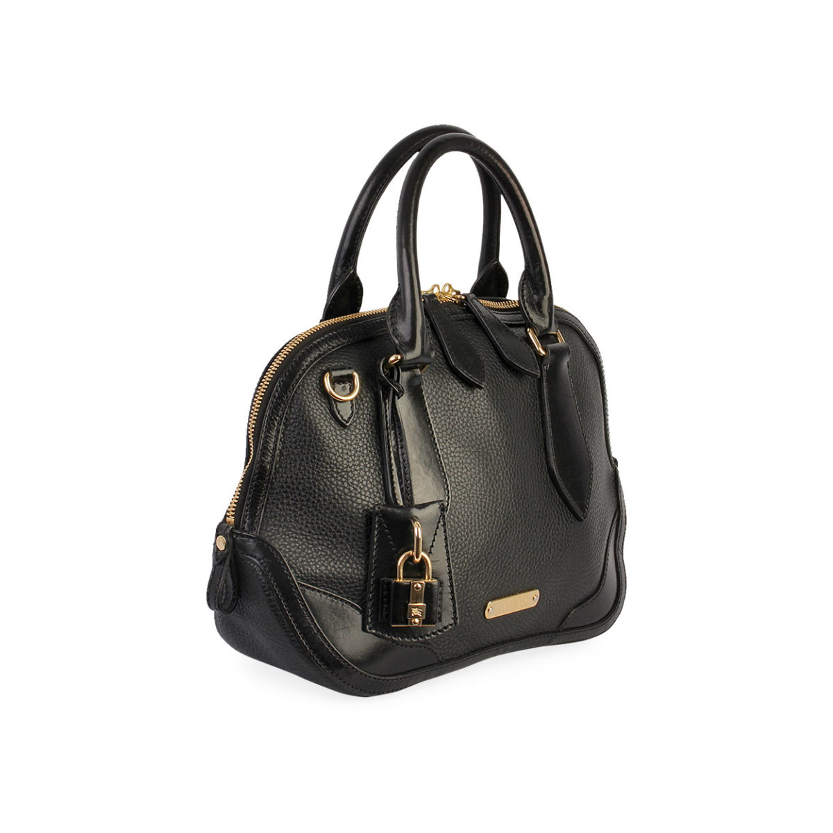 8693da27ad0 BURBERRY Grainy Leather Small Orchard Bowling Bag Black | Luxity