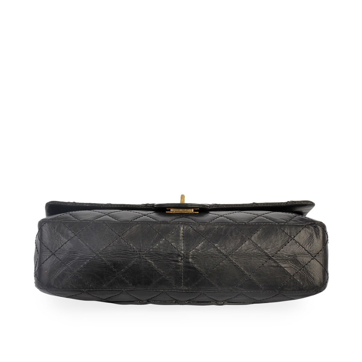 c863bb5ea5095d CHANEL Aged Quilted Calfskin 50th Anniversary 2.55 Reissue 226 Flap Black