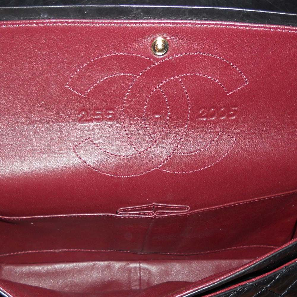 2587b71c32bb07 CHANEL Aged Quilted Calfskin 50th Anniversary 2.55 Reissue 226 Flap Black