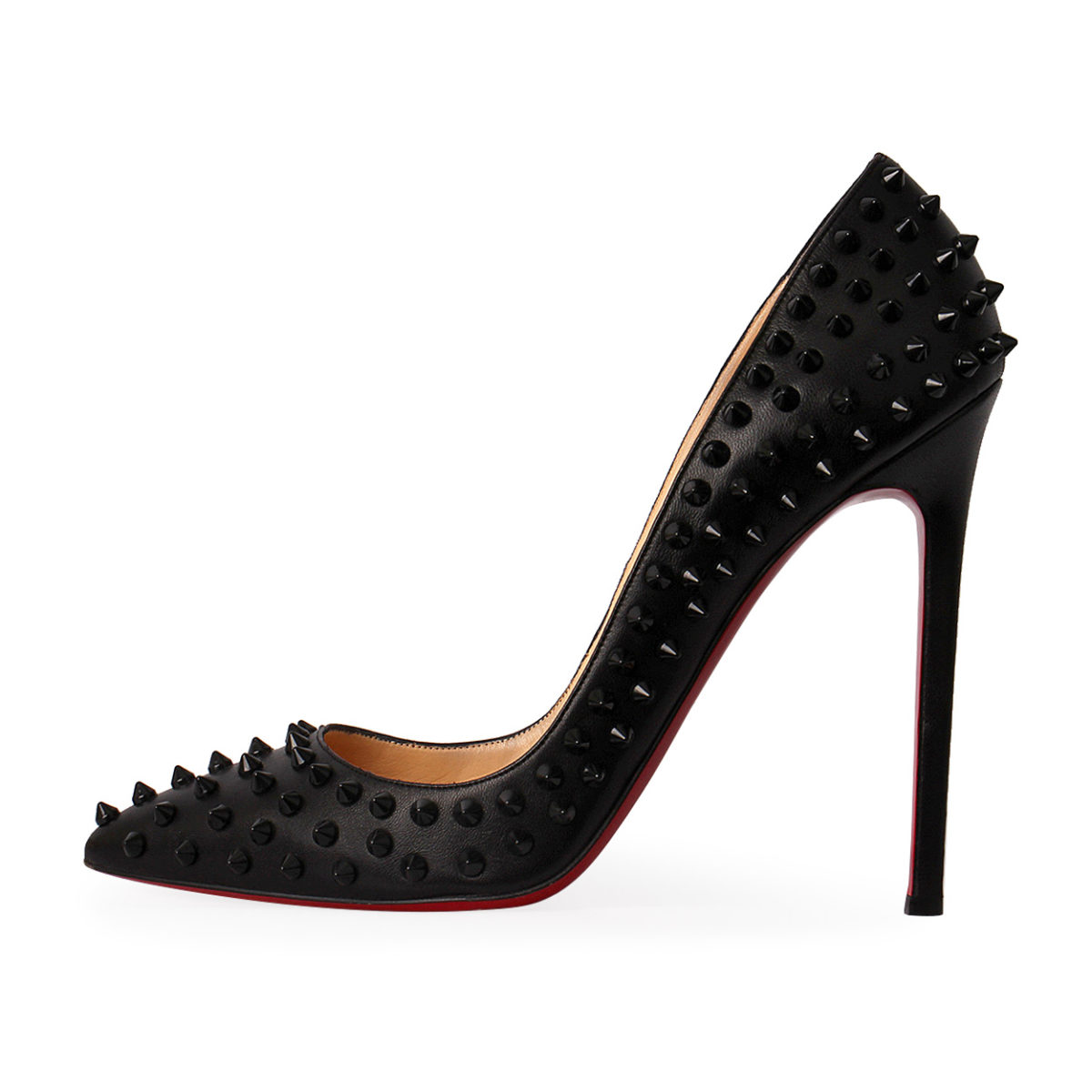 696c20070549 CHRISTIAN LOUBOUTIN Nappa Pigalle Spikes 120 Pumps Black - S 41 (7 ...