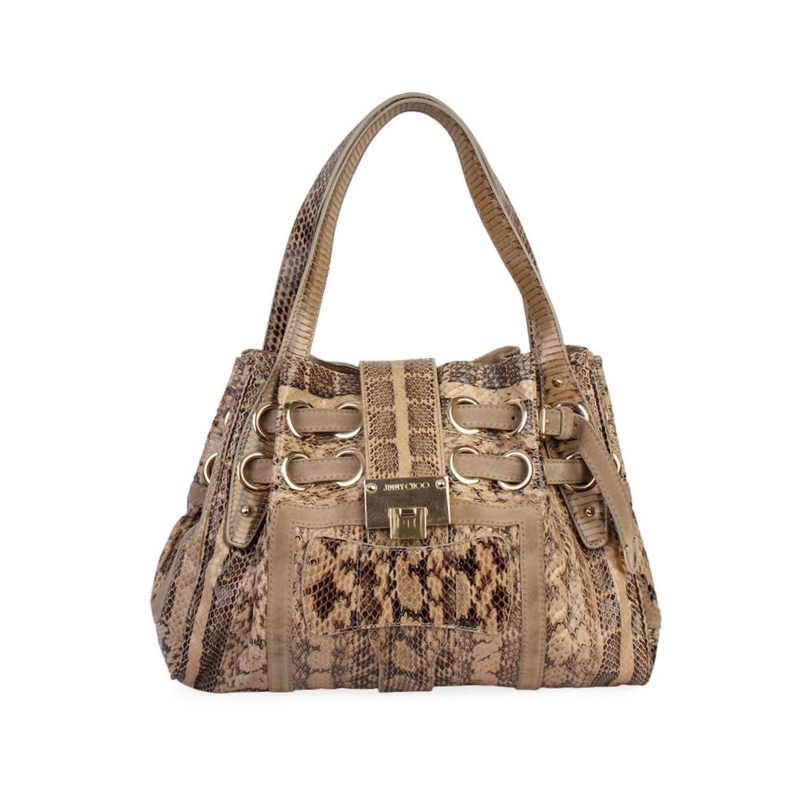 a73956426338 JIMMY CHOO Snakeskin Medium Riki Bag