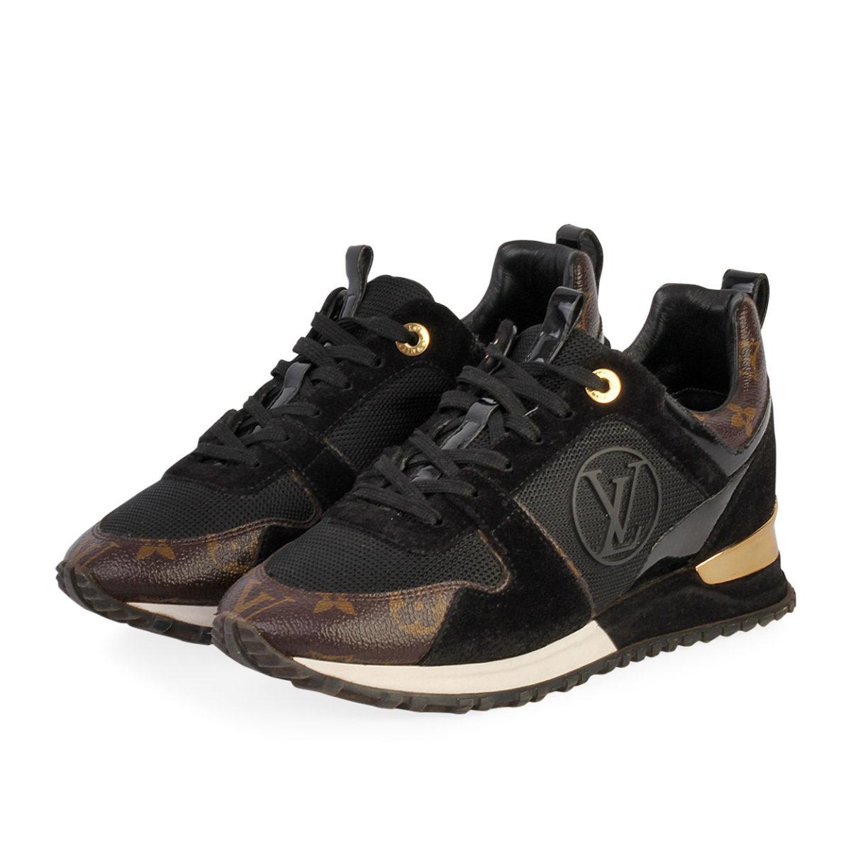 b76f03e6 LOUIS VUITTON Monogram Run Away Sneakers Black - S: 38 (5)