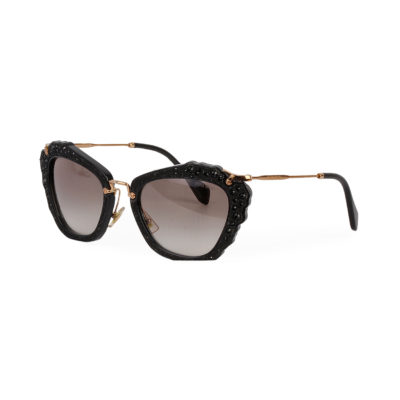 f26ddf01fad6 MIU MIU Cat Eye Sunglasses SMU04Q Black Gold