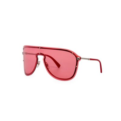23335814266 VERSACE Shield Sunglasses 2180 1000 84 Red