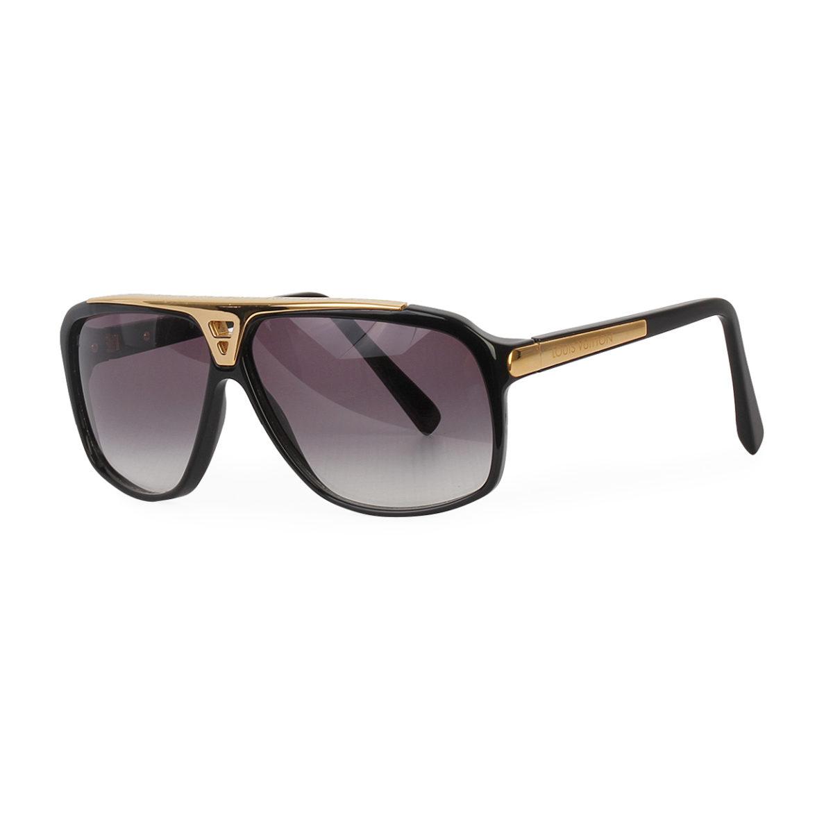 11708ea08b74a LOUIS VUITTON Evidence Sunglasses Z0350W Black Gold