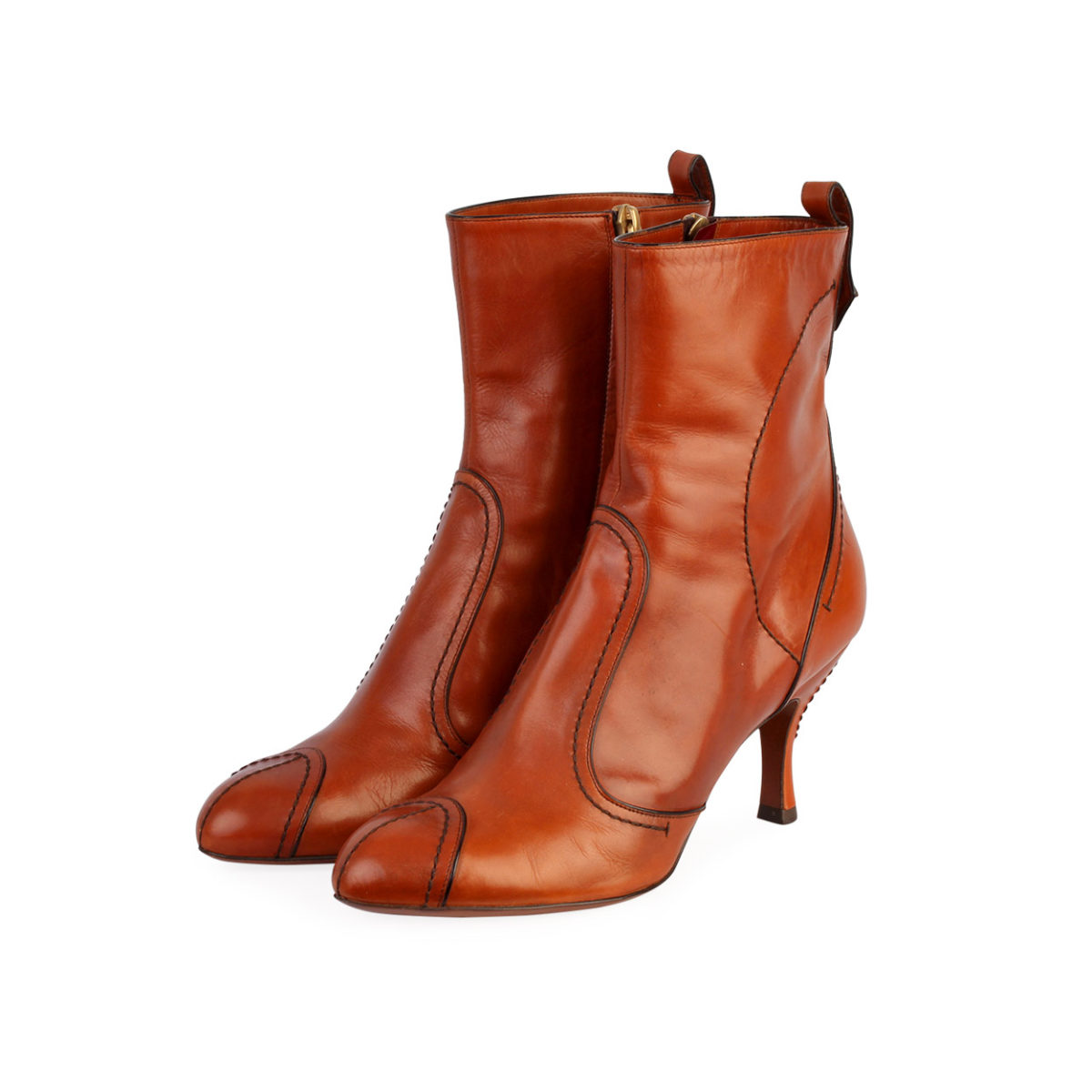 a477c6c68fb657 LOUIS VUITTON Leather Ankle Boots Brown - S: 38 (5) | Luxity